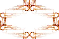 Vintage metalwork frame abstract stock images