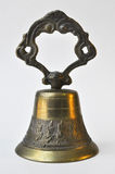 Vintage Mexican Colonial bronze hand bell Royalty Free Stock Images