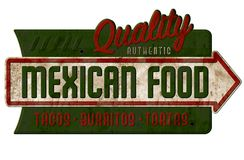 Free Vintage Mexican Food Sign Tacos Burritos Tortas Nachos Royalty Free Stock Photos - 126265928