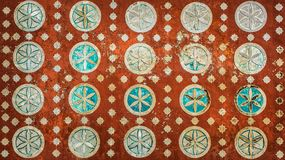 Vintage mexican pattern, highly detailed colonial style background.  royalty free stock photography