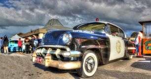 Vintage Mexican police car Royalty Free Stock Photo