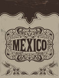 Vintage Mexico - mexican vector poster Stock Photo