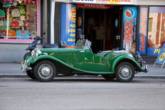 Vintage MG car Royalty Free Stock Images