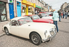Vintage MG sports car. In the Motormania event held at Grantown on Spey on 24th August 2013 Stock Images