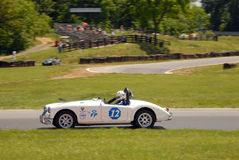 Vintage MG sports car racing Royalty Free Stock Image