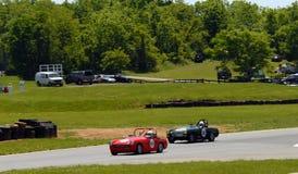 Vintage MG sports car racing Stock Photos
