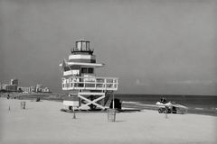 Vintage Miami Beach Royalty Free Stock Photos