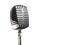 Vintage microphone. Isolated vinatge microphone with white background Royalty Free Stock Photo