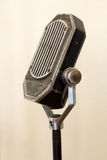 Vintage Microphone. Old Vintage microphone on stand Royalty Free Stock Photography