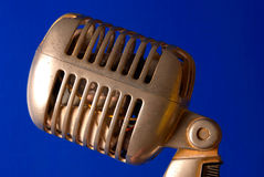 Vintage microphone. Close up take of a vintage microphone Stock Photography
