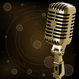 Vintage microphone Stock Photos