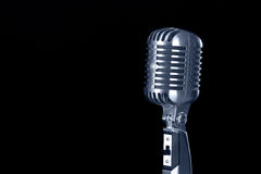 Vintage microphone Royalty Free Stock Images