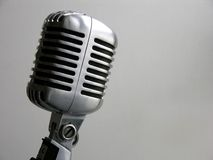 Vintage Microphone. The Retro Shure (Elvis Microphone) From The 50's Stock Photo