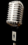 Vintage microphone in 3d Royalty Free Stock Images