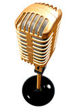 Vintage microphone in 3d Stock Photo