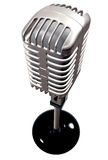 Vintage microphone in 3d Stock Images