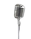 Vintage microphone. Isolated on white Royalty Free Stock Photography