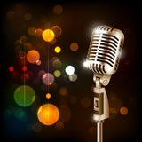 Vintage Microphone on abstract background stock illustration