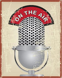 Vintage microphone on the air Stock Photos