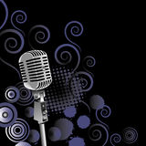 Vintage microphone background Stock Image