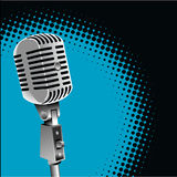 Vintage microphone background Royalty Free Stock Photography