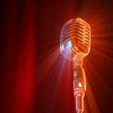 Vintage microphone. Royalty Free Stock Photo