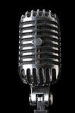 Vintage Microphone in Close-Up View Royalty Free Stock Photos