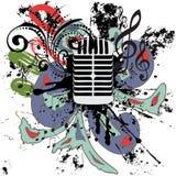 Vintage Microphone Grunge Stock Photos