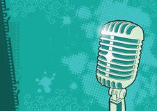 Vintage microphone illustration Royalty Free Stock Photo