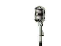 Vintage microphone isolated Royalty Free Stock Images