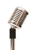 Vintage microphone isolated Royalty Free Stock Photography