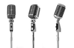 Vintage Microphone Isolated On White Royalty Free Stock Images