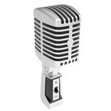 Vintage microphone. Isolated render on a white background Stock Photography