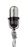 Vintage microphone isolated on white Royalty Free Stock Photos