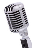 Vintage microphone isolated on white royalty free stock photography