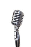 Vintage microphone, isolated Stock Photo