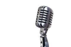 Vintage microphone. Isolated on white Stock Photo