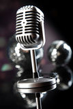 Vintage microphone, music saturated concept Royalty Free Stock Image