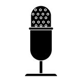 Vintage microphone studio style pictogram Stock Photography
