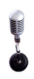 Vintage Microphone on White Royalty Free Stock Photos