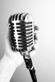 Vintage microphone Stock Photography