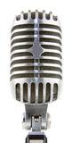 Vintage microphone on white background Royalty Free Stock Photos