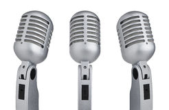 Vintage microphones Stock Photos