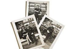 Vintage militar 1930-40's das fotos Fotografia de Stock