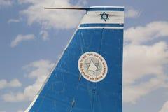 Vintage military aircraft on display at the Israeli Air Force Museum. HATZERIM, ISRAEL - MAY 2, 2017: Vintage military aircraft on display at the Israeli Air Stock Image
