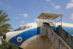 Vintage military aircraft on display at the Israeli Air Force Museum. HATZERIM, ISRAEL - MAY 2, 2017: Vintage military aircraft on display at the Israeli Air Stock Photos