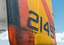 Vintage military aircraft, wear and tear Stock Photography