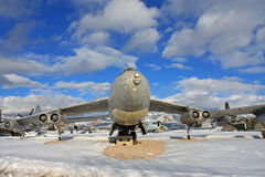 Vintage military airplane Stock Photography