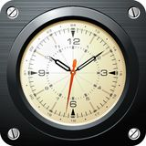 Vintage military airplane clock Royalty Free Stock Photography