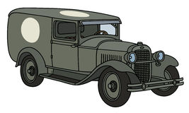 Vintage military ambulance Royalty Free Stock Photos
